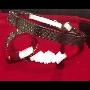 Jewelry - Fashion ❤️ Bangle Bracelet & Ring Set CZ Stones